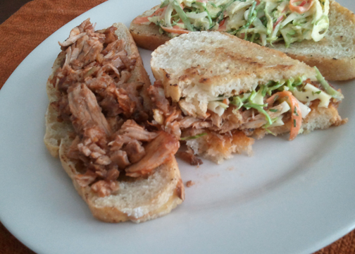 Chopped BBQ sandwich