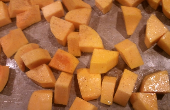 Roasted squash. Homeade Butternut And Apple Squash Soup