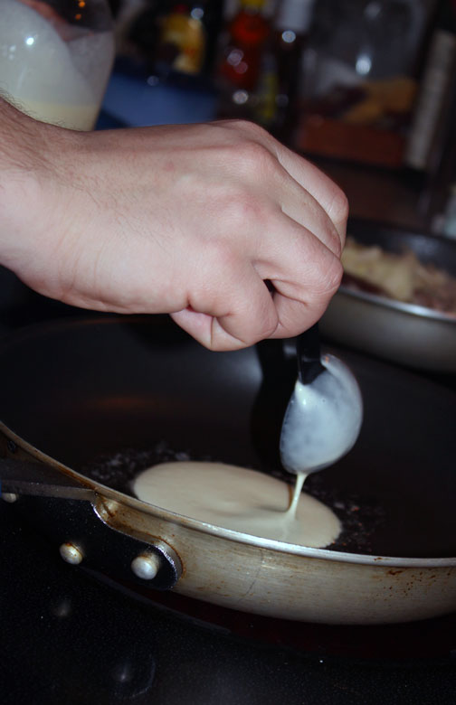 how to make crepe batter thinner