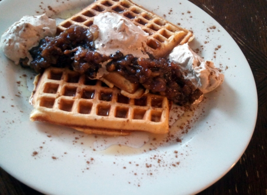 Apple Cinnamon Compote Waffles Vermont